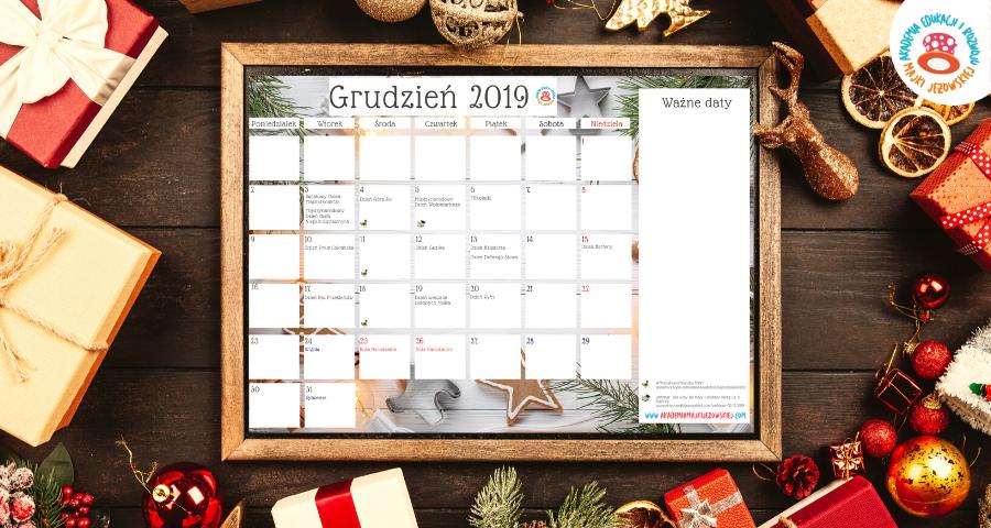 kreatywny kalendarz grudzień