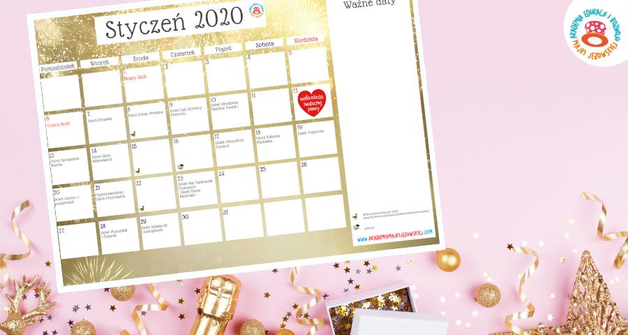 Kreatywny Kalendarz styczeń 2020