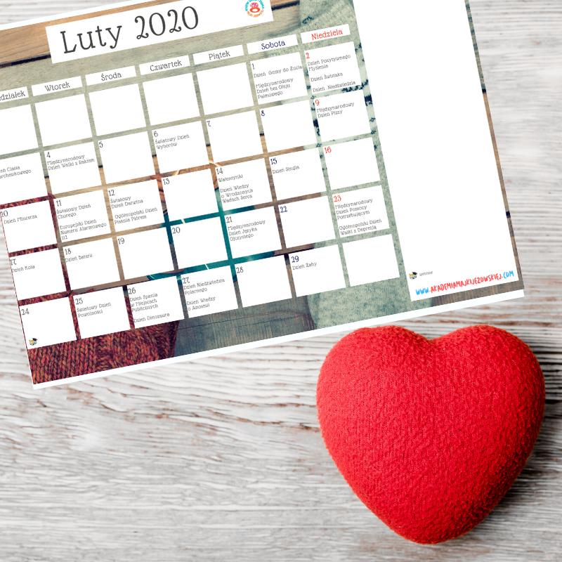 kreatywny kalendarz luty 2020