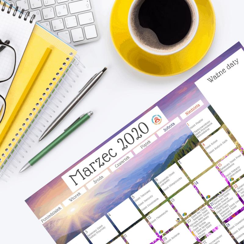 Kreatywny Kalendarz 2020 do pobrania
